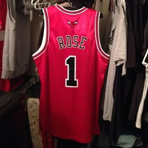 Authentic Chicago Bulls Derrick Rose Home Jersey