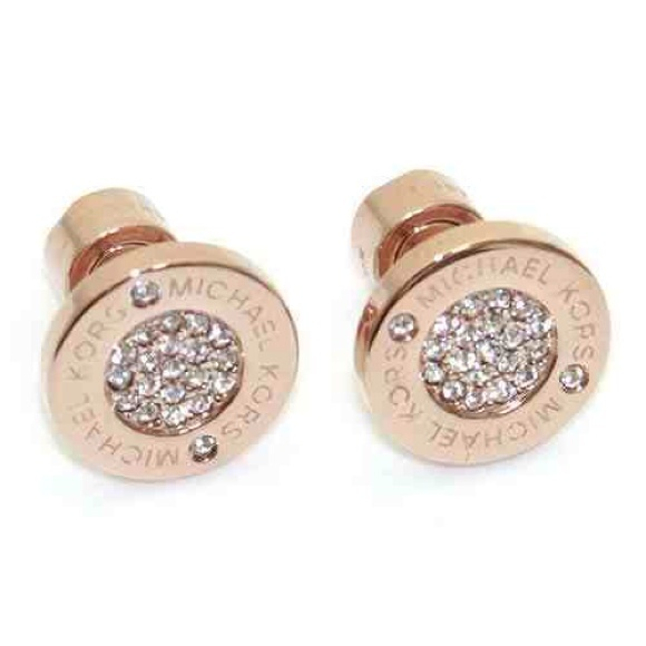 35274fa7b Michael Kors Pavé Rose Gold-Tone Stud Earrings. M_55825aee393f0760750229ce