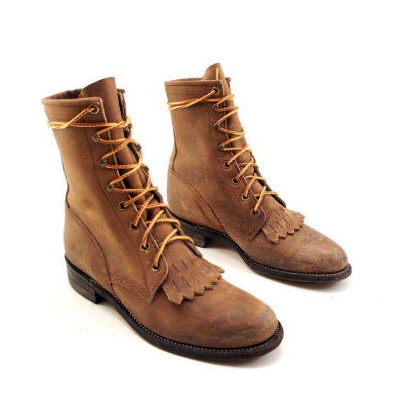 fde1ec98f40 Justin boots lace up
