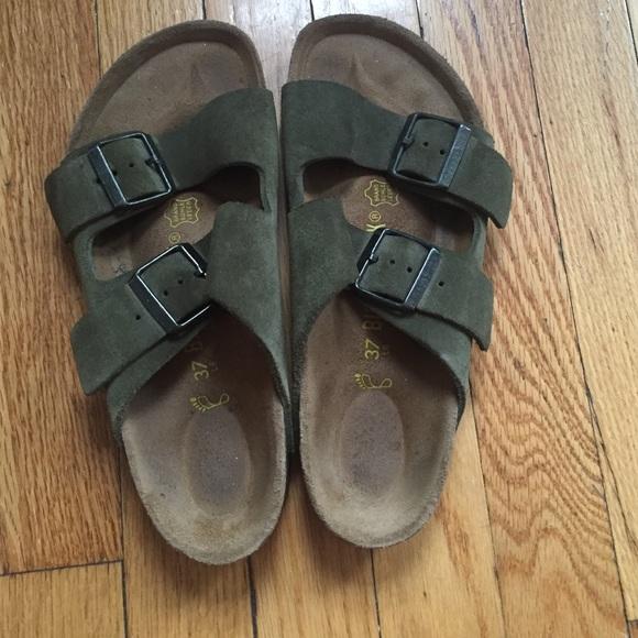 ca3770740647 Birkenstock Shoes - 🚫 HOLD🚫 Birkenstock Olive Green Suede Sandals
