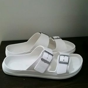 79222fab9 Birkenstock Shoes - If Crocs   Birkenstocks had a Baby! WHITE Slides