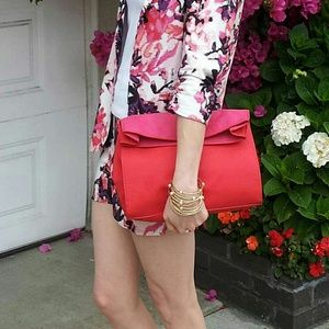 Zara Handbags - Red & Pink Lunch bag Clutch
