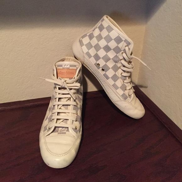 703e8ed62aaf Louis Vuitton Shoes - Louis Vuitton Damier Azur High top sneaker