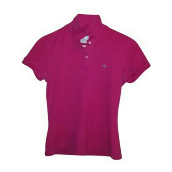 9aee8d813 Lacoste Tops | Hot Pink Womens Polo | Poshmark