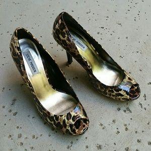 Steve Madden Patent faux leather Peep toe heels