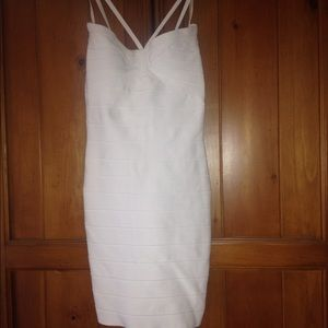 White Herve Leger dress XS