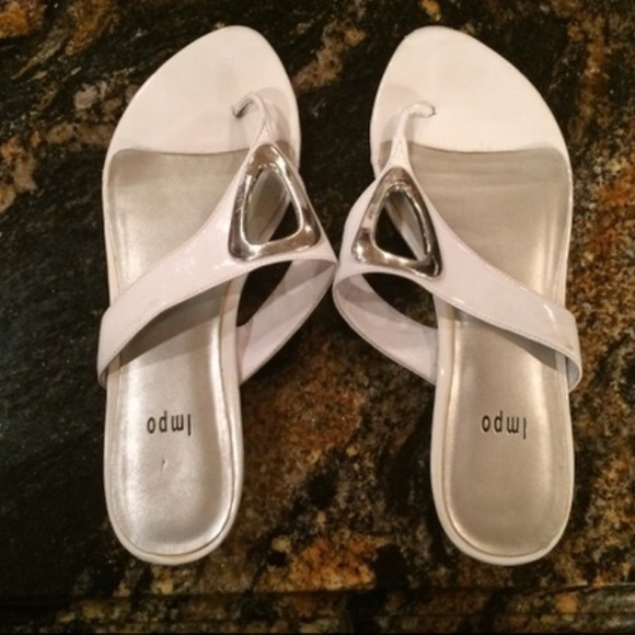 50 Off Impo Shoes - Silver And White Impo Flip-Flops From -6865