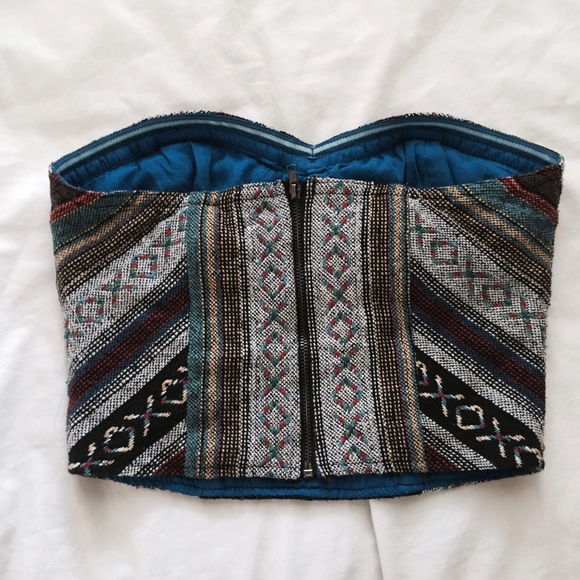 Urban Outfitters Tops - Multicolored Tribal Print Bustier