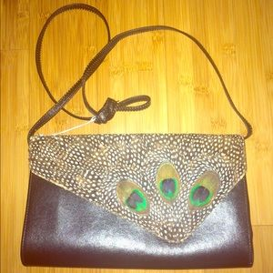 Genuine Peacock clutch with straps