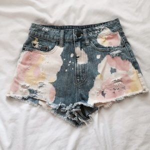 BDG Shorts - Dip-dyed High Waisted Shorts