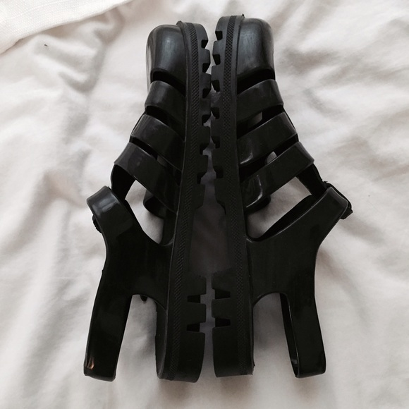 American Apparel Shoes - Black Jelly Sandals.