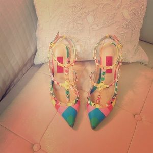 Valentino Shoes - ⭐️NEW⭐️ Auth Valentino Rockstud 1973 multi color