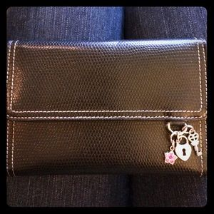Black Wallet with Charms - NWOT