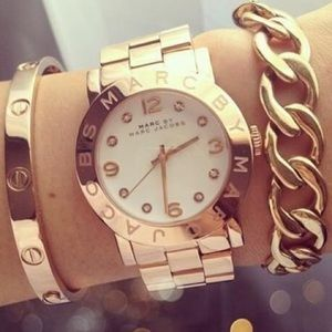 Marc by Marc Jacobs Rose Gold 36mm Amy Watch