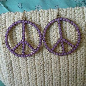Peace & Love Peace sign earrings