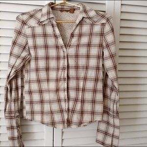 Copper Key Tops - Plaid Retro button up top  This is not Flannel!