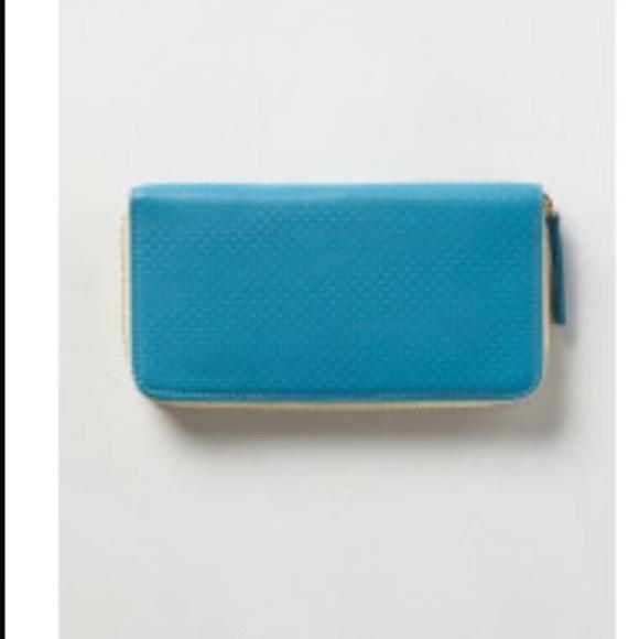 Clare V. Woman Leather Card Case Blue Size Clare Vivier 8XEkz