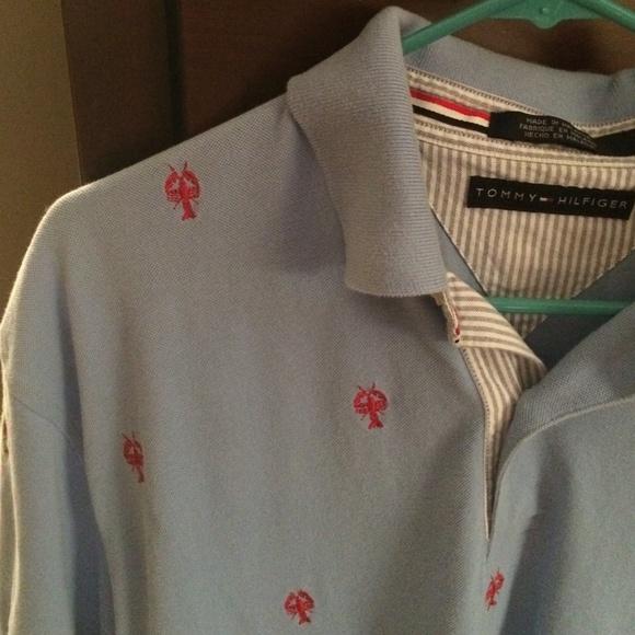 5905de5b Tommy Hilfiger lobster critter shirt MENS. M_55836da8d3703d718b000a0a