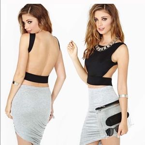 "Nasty Gal's ""Back Off"" Backless Crop Top"