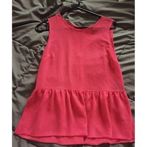Forever 21 Tops - Red peplum top