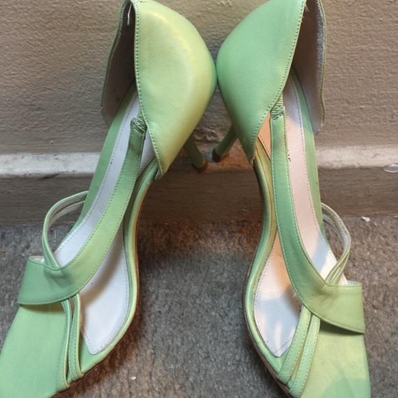 Banana Republic Shoes - Banana Republic lime green shoes