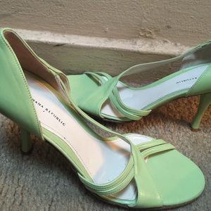 Banana Republic Shoes - Banana Republic lime green shoes