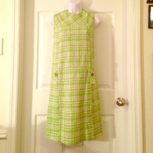 Vintage green 50's style retro dress size medium