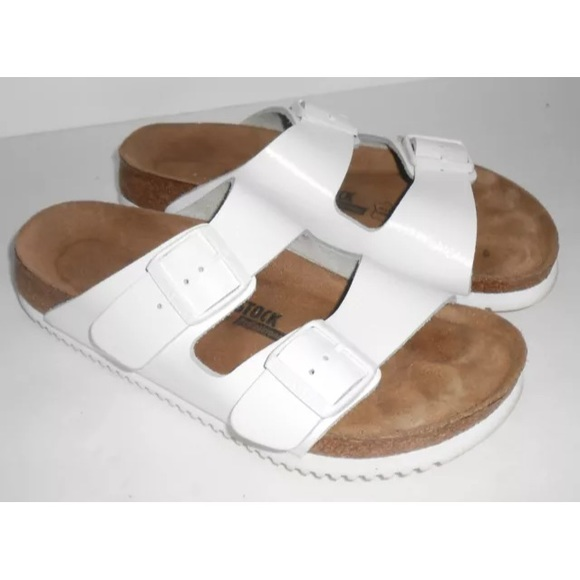 1278958b3ae Birkenstock Shoes - Birkenstock Arizona Soft Footbed Super Grip White