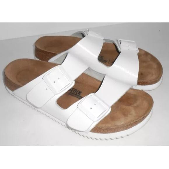 ed339ead8c0 Birkenstock Shoes - Birkenstock Arizona Soft Footbed Super Grip White