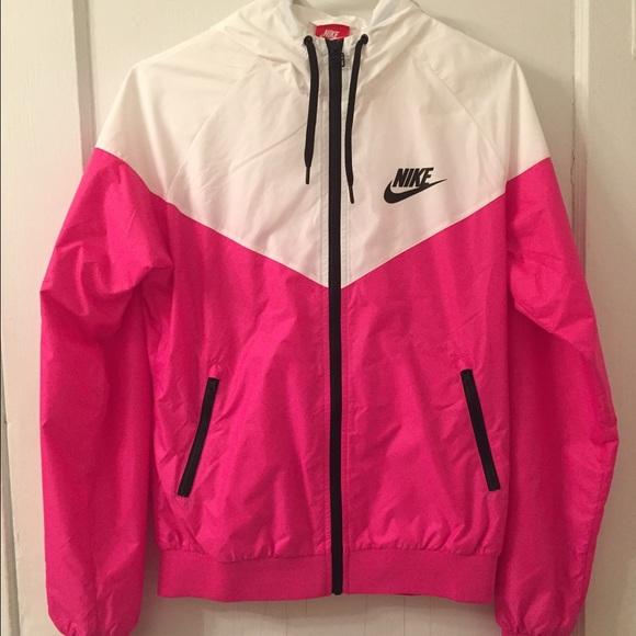 Nike Veste Rose Et Blanc