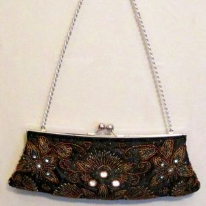Beaded Black Clutch Bag by Apt. 9