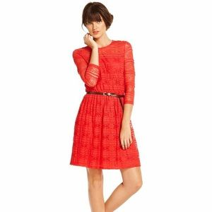 Maison Jules Red Lace Dress