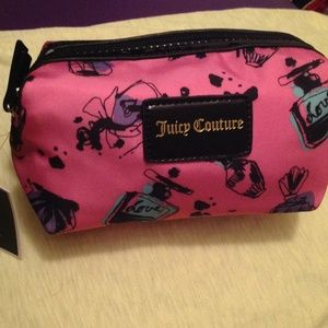 Juicy couture pink cosmetic bag