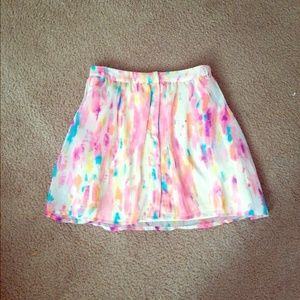 watercolor print forever 21 f21 rory beca skirt m