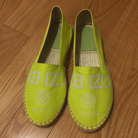 378153f524a Kenzo Shoes | Brand New Neon Yellow Espadrilles | Poshmark