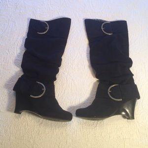 82 monkey boots monkey black suede