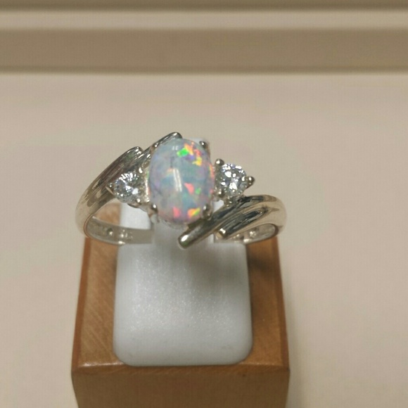 Avon Jewelry Created Opal Ss Ring Poshmark