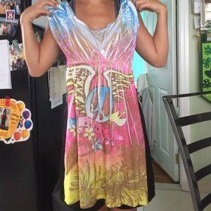 PEACE BEACH DRESS COVER UP