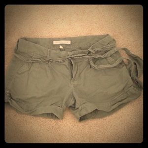 Abercrombie & Fitch Olive green shorts