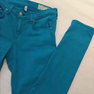 Rag and bone turquoise jeans