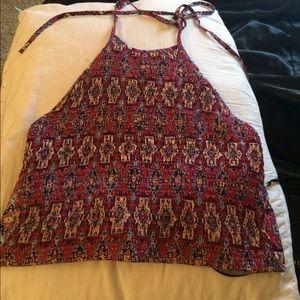 woven tribal crop top✨