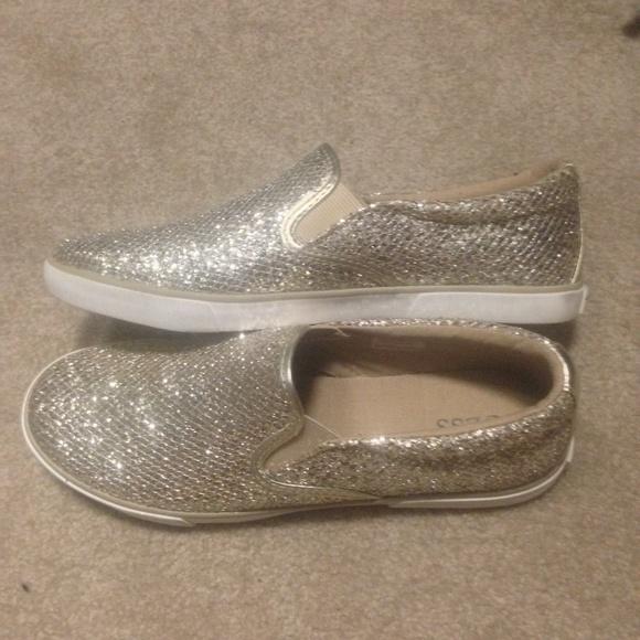 b932a1a8740e Guess Shoes - Guess Gold Glitter Slip Ons