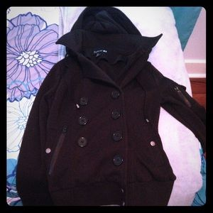 Black hooded Dressy jacket from forever 21