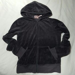 Charcoal Gray Velour Juicy Couture Jacket M