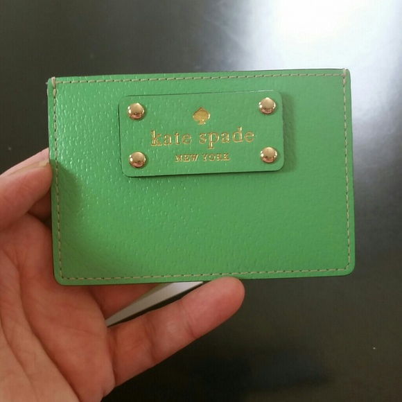kate spade card holder green  Kate Spade Wellesley Card Holder Green NWT