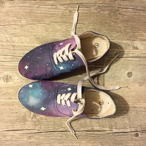 Shoes - HAND PAINTED GALAXY SHOES - NWOT