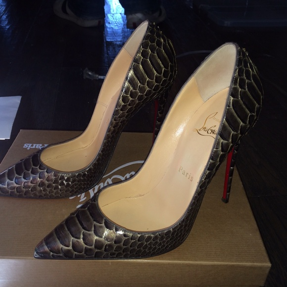 e71644a7058 Christian Louboutin size 37.5 python So Kate pumps