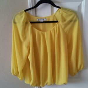 Yellow forever 21 top