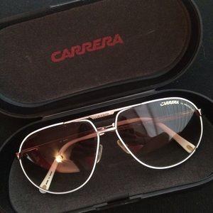 Carrera Accessories - Carrera White Master aviator Sunglasses