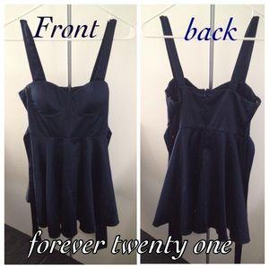 Mini navy blue dress